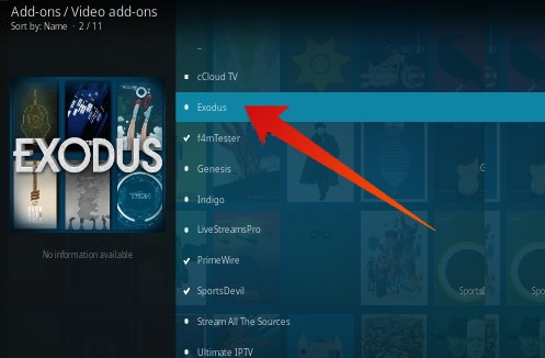 exodus install on kodi 17