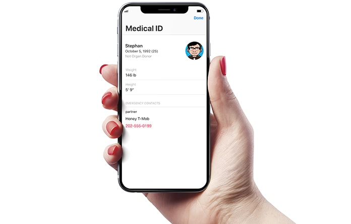 find phone number from a locked iphone