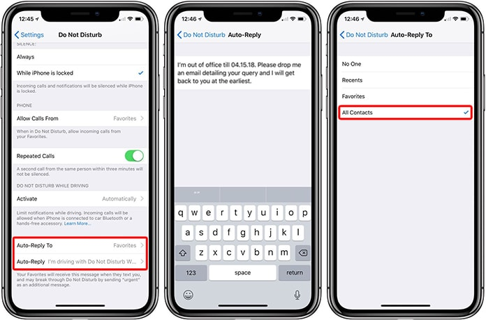 text message auto reply iphone how to set an auto reply for messages amp calls on iphone 18072