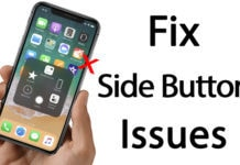 iphone x side button not working
