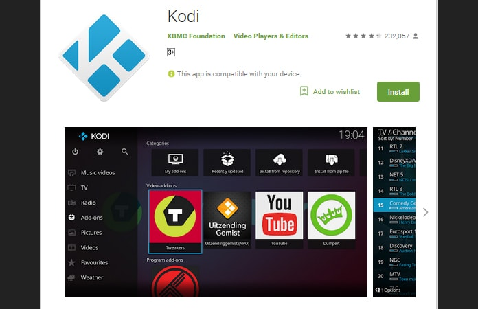 download kodi for android