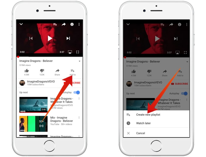 loop youtube videos on iphone