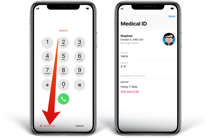 find phone number on locked iphone