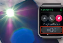 activate led flash light when iphone is pinged from apple watch