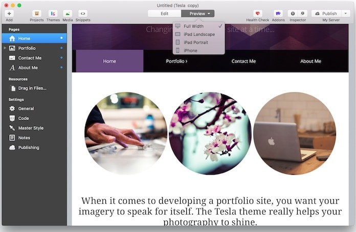 design a responsive website on mac