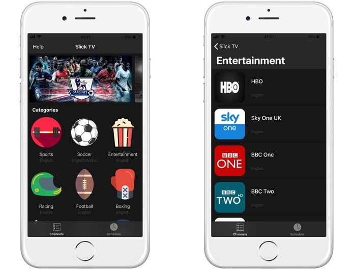 slick tv for ios 11