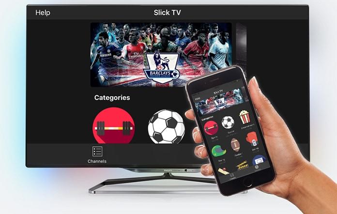 use slick tv to stream live tv