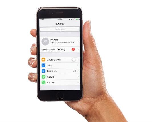 update apple id settings on iphone