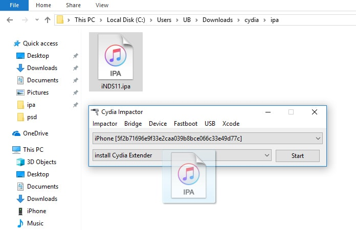 how to put ipa file into iphone