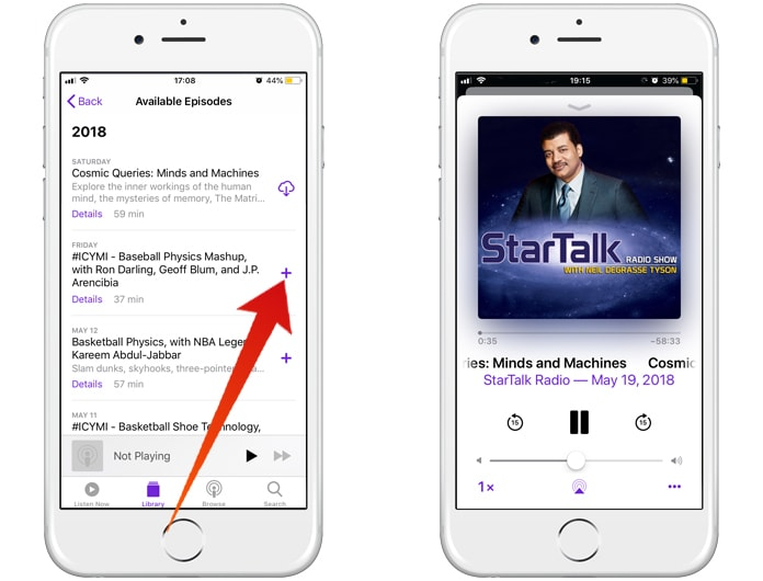 download podcasts to iphone