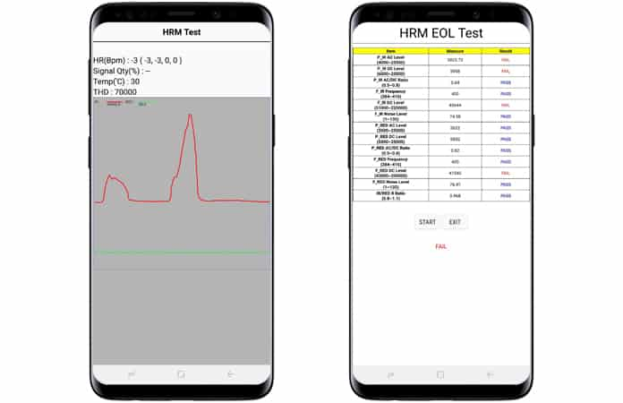 samsung heart rate monitor test