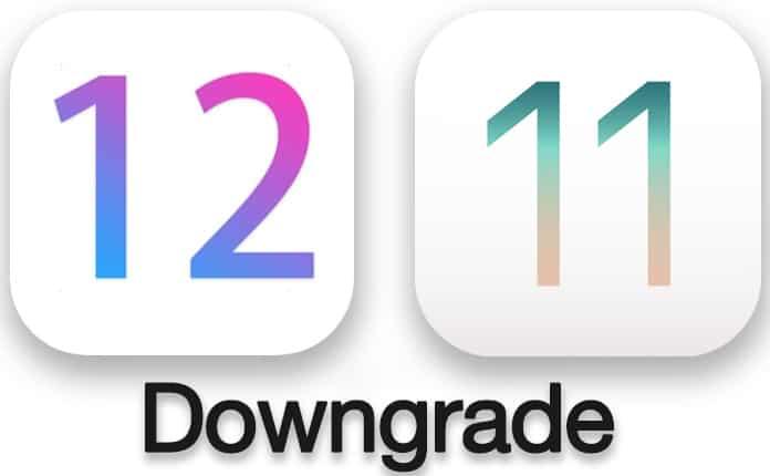 downgrade ios 12 to ios 11