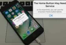 the home button may need service