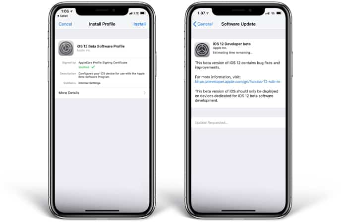 ios 12 beta configuration profile