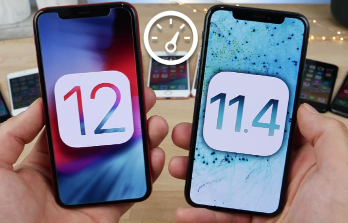 ios 12 vs ios 11 speed