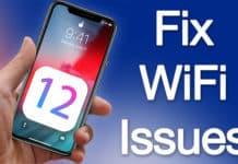 wifi not working in ios 12