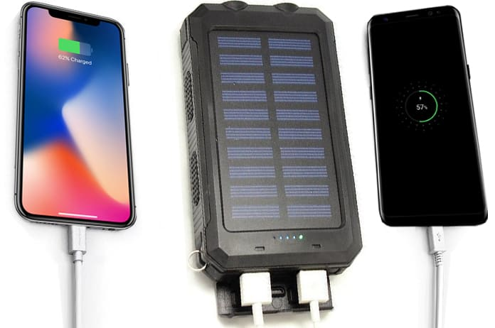 solar power banks for iphone