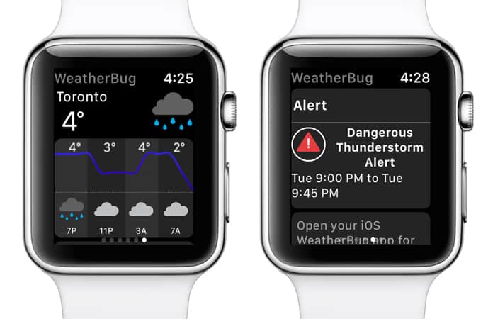 iwatch free weather apps