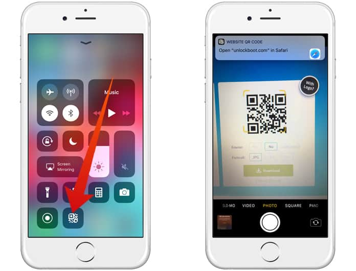 how to scan qr codes in ios 12