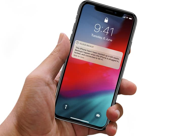 iphone not backed up