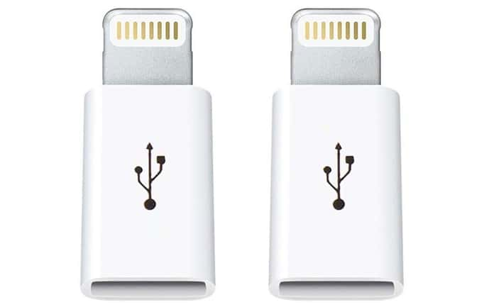 micro usb to lightning adaptor