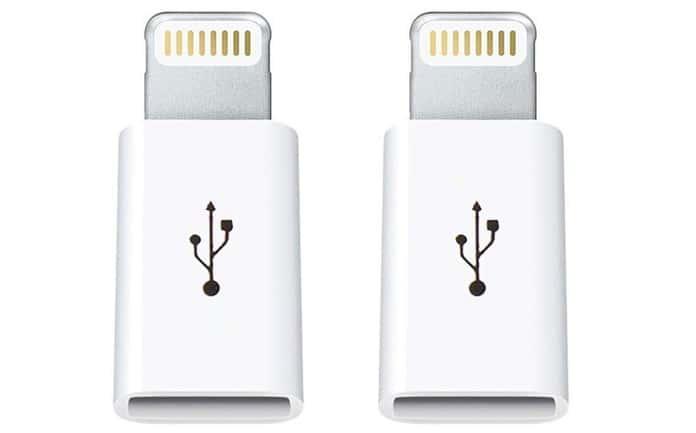 micro usb to lightning adaptor