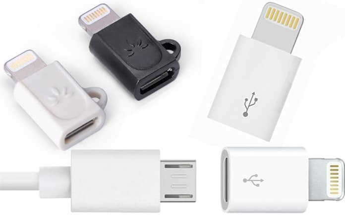 micro usb to lightning adapters