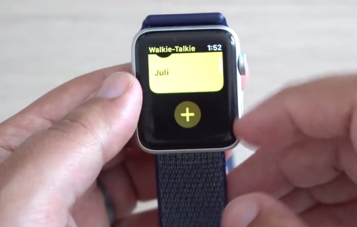 use walkie-talkie on iwatch