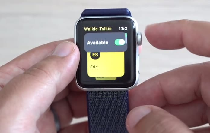use walkie talkie on iwatch