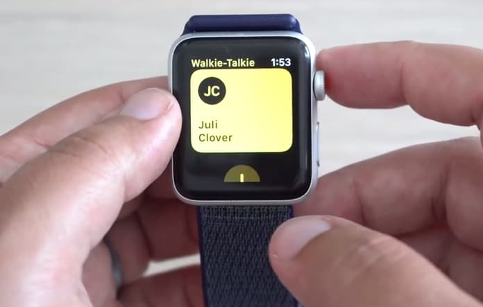 walkie talkie app for apple watch