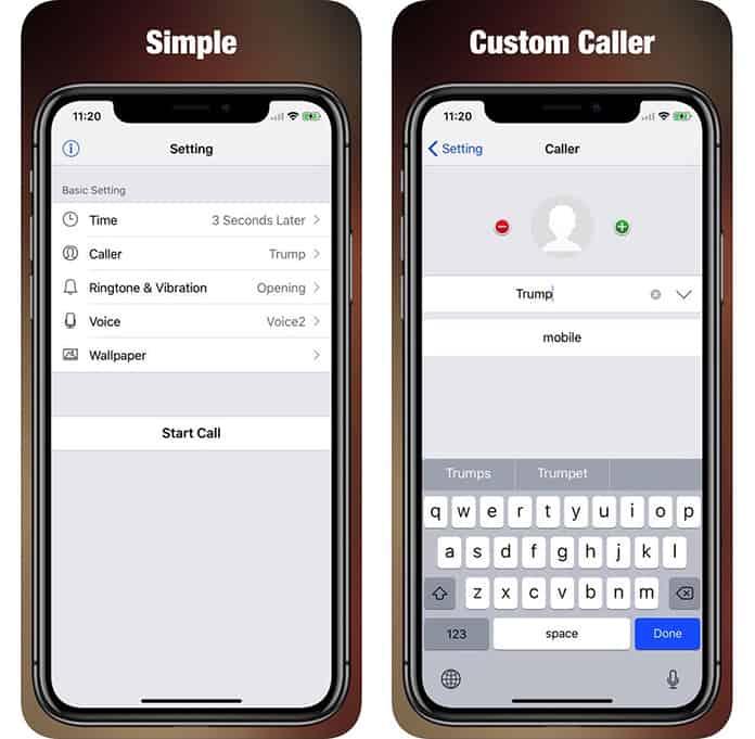 iphone fake call app