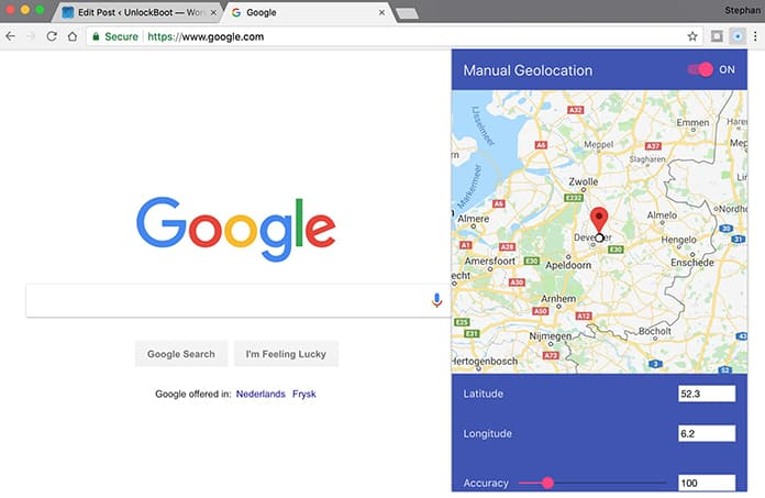 change location chrome extension