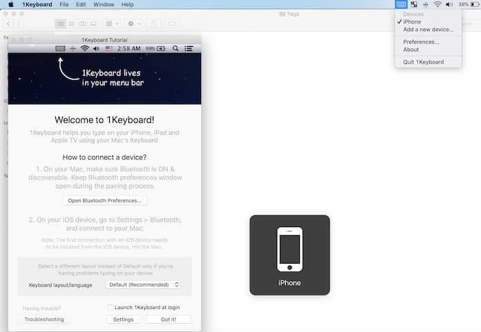 pair mac keyboard with ipad