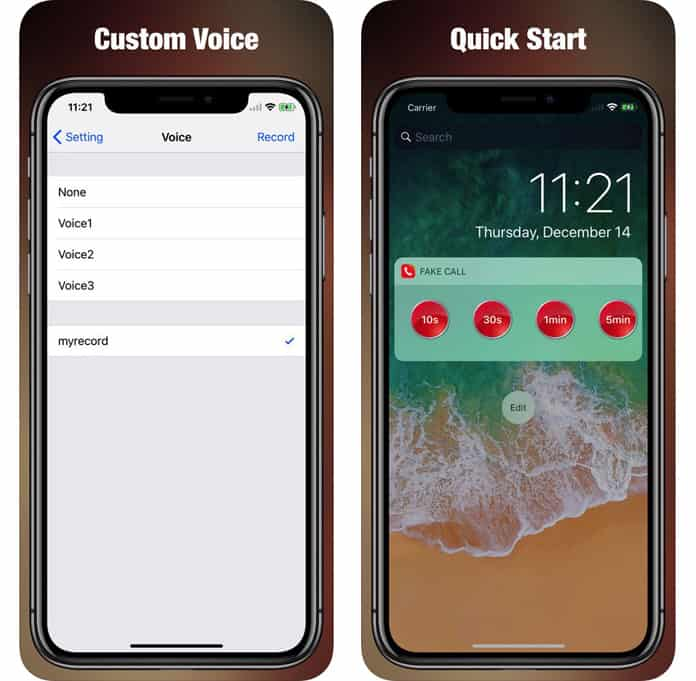 schedule fake call on iphone