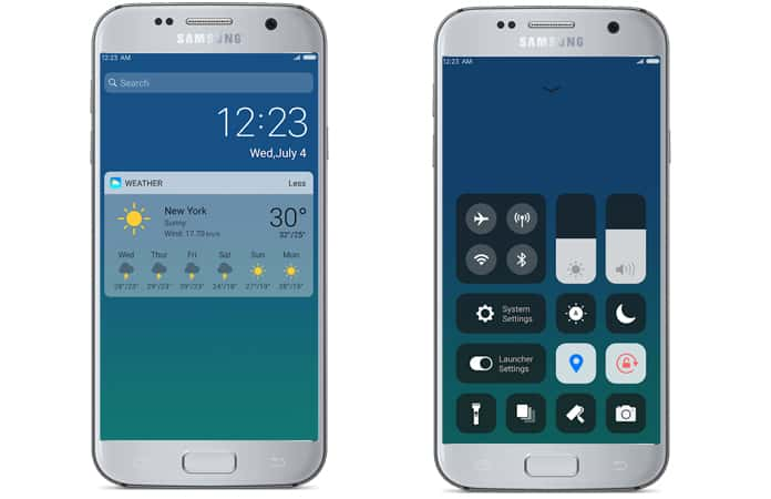 ios launcher for samsung