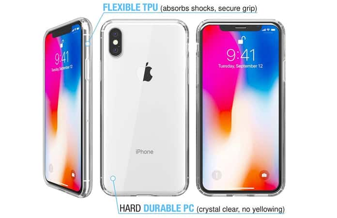 iphone xs case clear protective