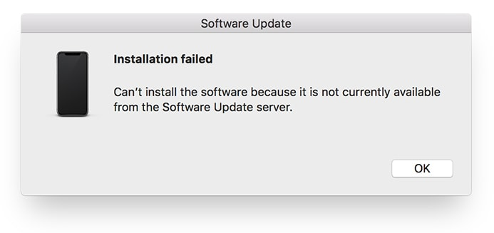 itunes update failed