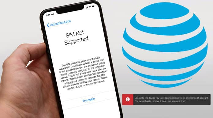 unlock at&t iphone active on another account