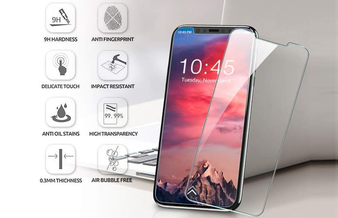iphone xs tempered glass protector
