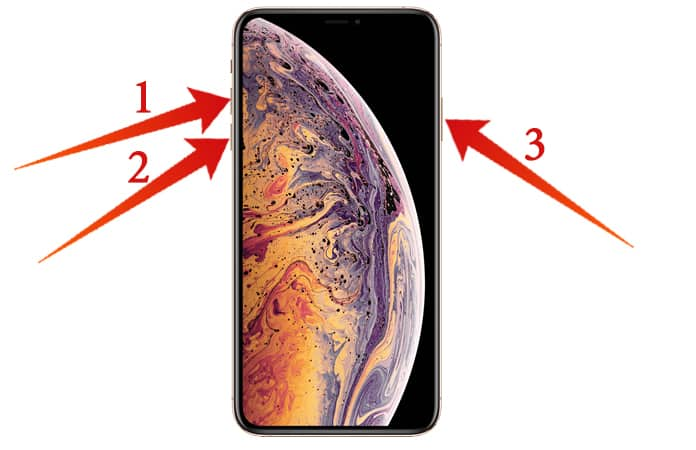 force reboot iphone xs max