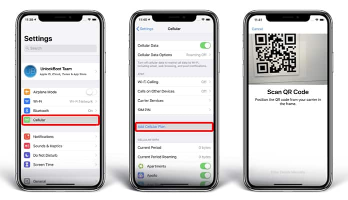 How to Add, Activate and Use eSIM on iPhone XS Max, XS or XR