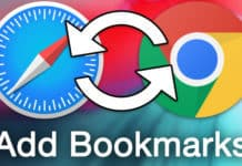 add bookmarks from safari to chrome