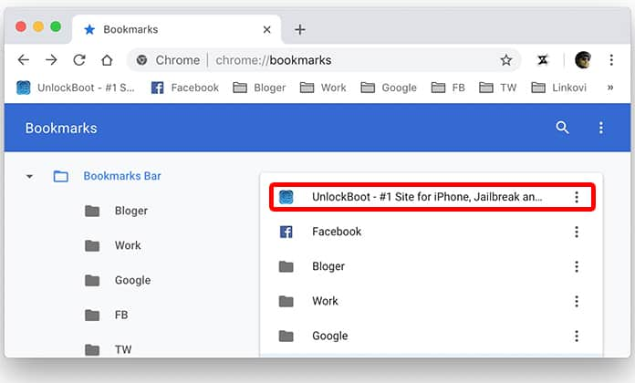 chrome bookmarks from safari
