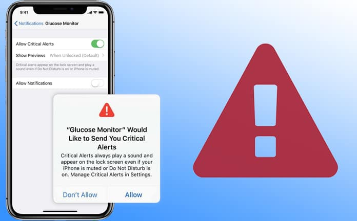 disable critical alerts in ios 12