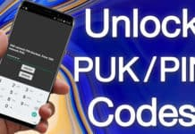sim network unlock puk