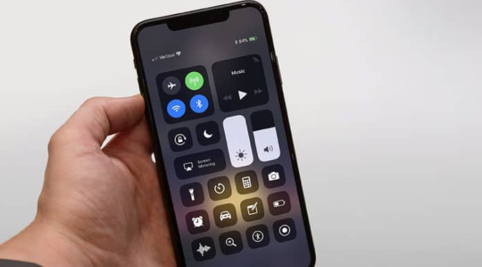 open control center on iphone xs max
