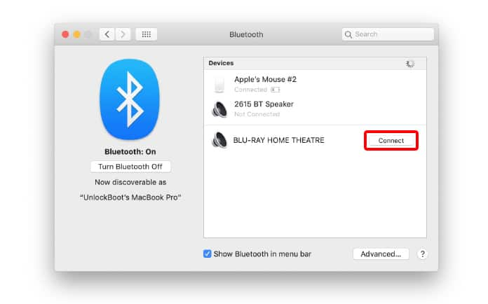 connect to bluetooth speaker from mac