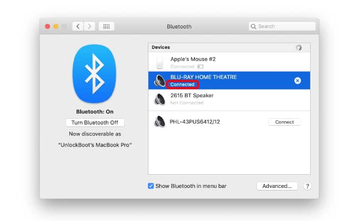 use bluetooth speaker with mac
