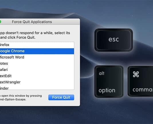 mac force quit shortcut