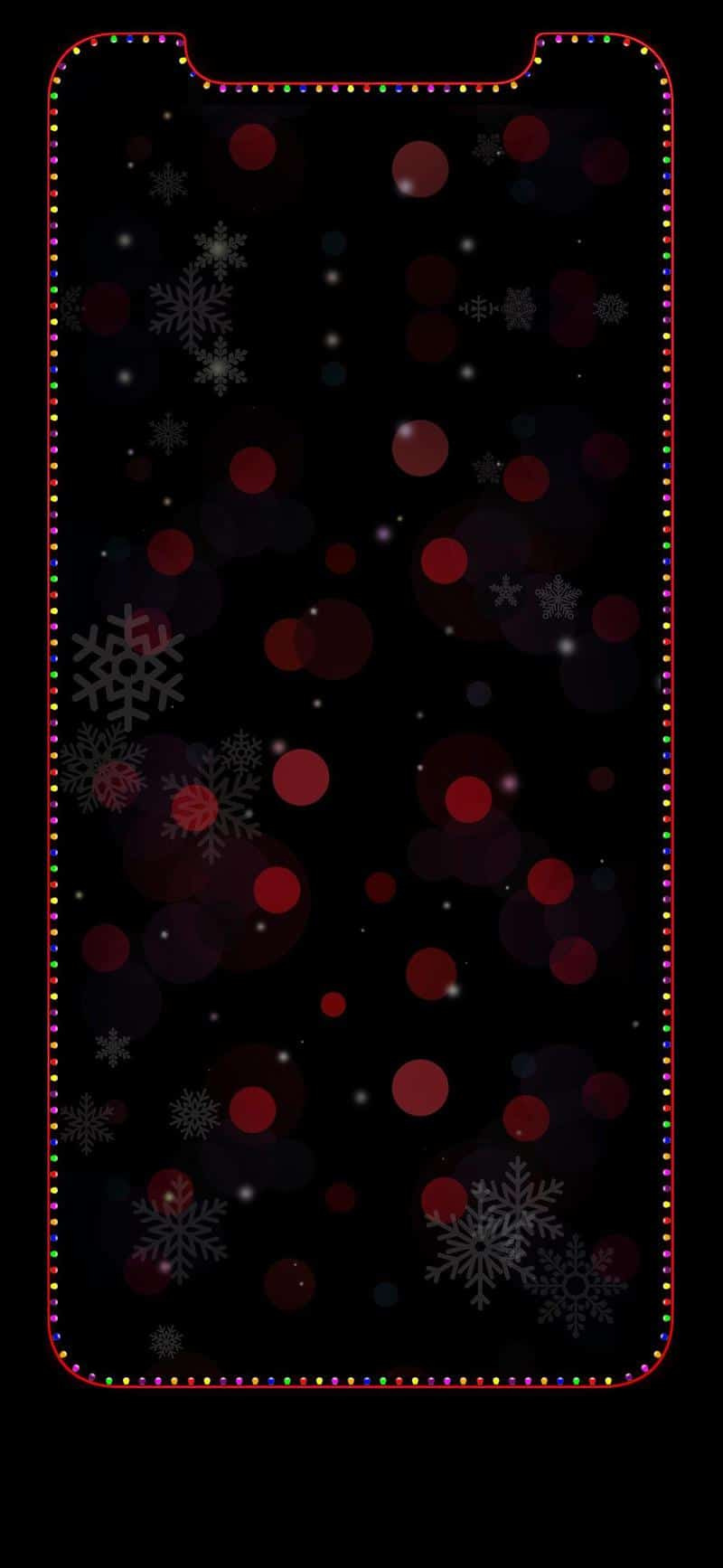 iphone x christmas wallpaper